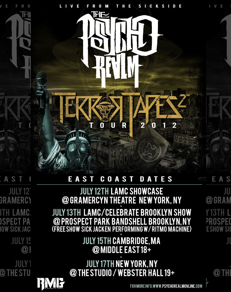 Psycho Realm East COast Tour Dates
